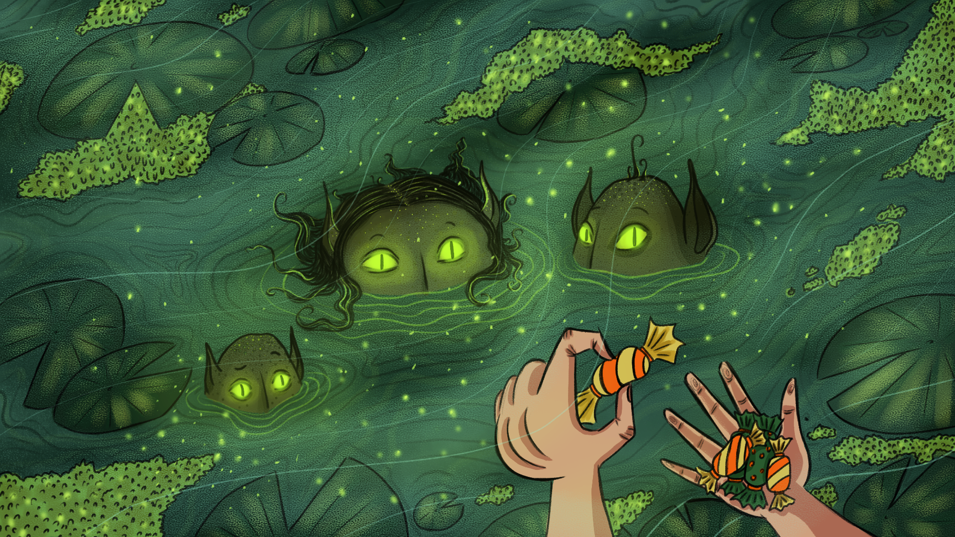 candy in a swamp